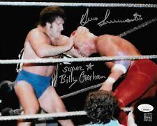 BRUNO SAMMARTINO & SUPERSTAR BILLY GRAHAM WWF SIGNED AUTOGRAPH 8X10 PHOTO JSA