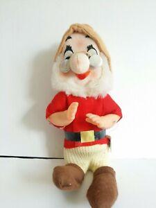 Vintage Disney Snow White Seven Dwarfs DOC Gund Doll Japan  1960-70's