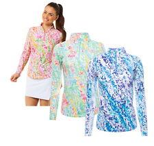 IBKUL Womens Cat Cay Print Long Sleeve Mock Neck 10518 - New 2020