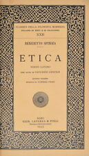 BENEDETTO SPINOZA ETICA TESTO LATINO NOTE DI GENTILE TOMMASO FIORE LATERZA 1933