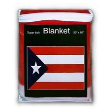 "Puerto Rico Flag Fleece Blanket (50""x60"") Travel Throw Cover Rican Bandera Frisa"