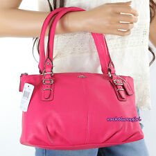 NWT Coach Madison Leather Small Tote Shoulder Bag Handbag 36904E Pink Ruby NEW