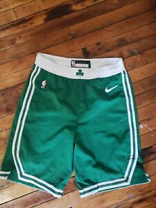 Boston Celtics Nike Authentic Green NBA Player Issued Game Shorts Size 40+2
