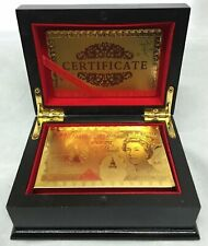 24K Karat 99.9% Pure Gold Plated Playing Cards Poker Game Bridge Deck - UK Stock