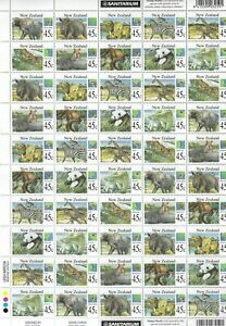 NEW ZEALAND - #1236a - 45c WILD ANIMALS FULL SHEET OF 100 (1994) MNH STAMP MONTH