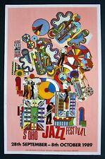 ORIGINAL POP ART POSTER - SOHO JAZZ FESTIVAL 1989 - EDUARDO PAOLOZZI COLLAGE.
