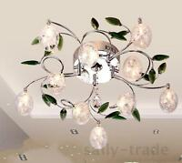 New Leaves Crystal Glass Balls Shade Ceiling Light Pendant Lamp Chandelier Hot