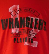 Las Vegas Wranglers Hockey Playoffs 2012 Red S/S T-Shirt XL