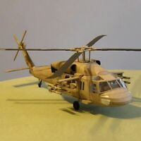 1:33 Scale Black Hawk UH-60 Helicopter Aircraft 3D Paper Model DIY Military Toy