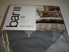 Bar III Seneca Standard Pillow Sham Cotton Sateen Snaap Closure New NIP