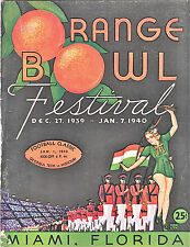 1940--ORANGE BOWL--GEORGIA TECH (BOSCH) vs. MISSOURI (CHRISTMAN)--PROGRAM--XLNT