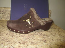 Stuart Weitzman Circuit Mules 7 M Brown Suede New with Box
