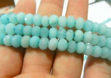 5X8mm Faceted Natural Brazilian Aquamarine Abacus Loose Beads 15''##ZY055