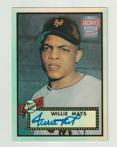 2001 Topps ARCHIVES RESERVE Willie Mays ON CARD AUTO NY Giants HOF Surface dot