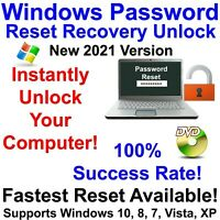 Windows Password Recovery Reset Unlock for Windows 10, 8.1, 8, 7, Vista, XP DVD