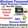 Windows Password Recovery Reset Unlock for Windows 10, 8.1, 8, 7, Vista, XP DVD