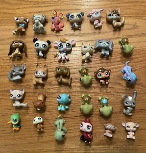 Lot of 30 Littlest Pet Shop Animals  Dogs, Cats, Bunny etc..Free Shipping