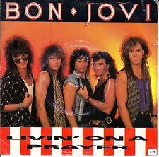 "BON JOVI Livin' On A Prayer PICTURE SLEEVE 7"" 45 rpm + juke box title strip RARE"