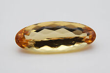 GIA & GSI Certified 3.91 Ct Oval Shaped Orange-Yellow Topaz Loose Stone