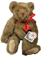 """The Vermont Teddy Bear Company 20"""" Jointed Plush Stuffed Teddy Bear 1992"""