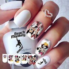 Nail Art Nail Wraps Nail Decals Water Transfers Quality MICKEY & MINNIE MOUSE