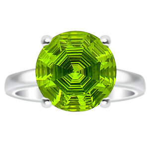 Peridot Simulated 925 Sterling Silver Ring s.8.5 Jewelry 4603