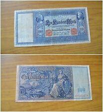 BANCONOTA GERMANIA REICHSBANKNOTE 100 MARK 1908 BERLIN SUBALPINA