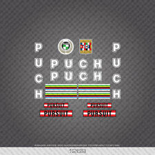 01269 Puch Pursuit Bicycle Stickers - Decals - Transfers - White