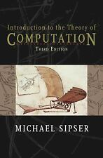 Introduction to the Theory of Computation by Sipser Hardcover US edition