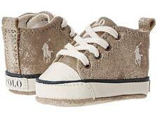 NEW Ralph Lauren Layette Infant SAG HARBOUR Leather Crib Shoe. Size 2 (3-6 Mths)