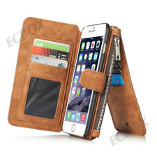 Retro Leather Case ZIPPER Wallet Card Slots Cover for iPhone X XS XR Max 6 7 8