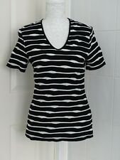 Ladies Black and White Gerry Weber T-Shirt Size 38 (10/12)