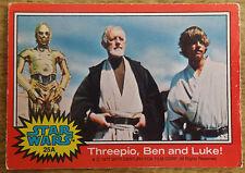 Topps Star Wars trading card 1977, 25A Threepio, Ben and Luke!