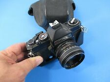 1970's Black Gaf 35mm L-17 Camera w/ Chinon 1:1.7 55mm Lens Works Great VS4B/3