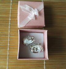 weiße Biwa Perle Ohrringe, Gesamtgröße ca. 13 * 20 mm