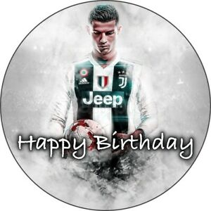 Fußball Ronaldo Eßbar Tortenaufleger Party Deko Tortenbild Muffin Geburtstag Neu