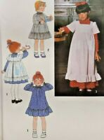 1978 Simplicity Sewing Pattern 8812 Girls Dress & Pinafore 2 Lengths Sz 6 7985F