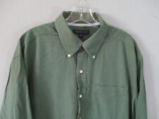 Tommy Hilfiger Men's Size L Cotton Herringbone Long Sleeve Button-Front Shirt