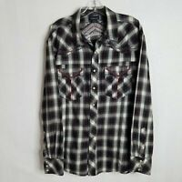 Ariat Pendleton Mens Embroidered Pearl Button Front L/S Western Shirt Sz XL Z128