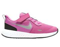 Scarpe Bambina Running Palestra Allenamento Nike Revolution 5 PSV Rosa Strappo