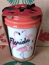 NEW Starbucks 2015 FLORIDA Flamingo Christmas ornament NEW!