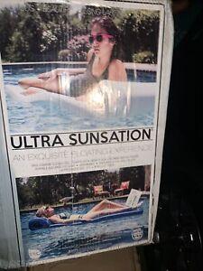 "TRC Recreation Super Soft Ultra Sunsation 72"" Pool Float Lounger, Marina Blue"
