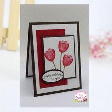 Tulip Flower Metal Cutting Dies Stencil Scrapbooking Embossing Paper Card Making