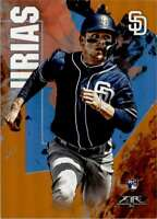 2019 Topps Fire Orange Flame Luis Urias Rookie 199/299 San Diego Padres #61