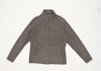 Marks & Spencer Womens Size 12 Fleece Grey Jacket