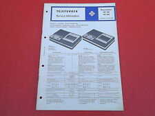 Telefunken MC 300 MC 500  orig. Service Anleitung Manual 25 Seiten