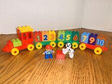 Lego Duplo Number Train 10558 partial Lot-#8 Boy Minifig-Dalamation Dog