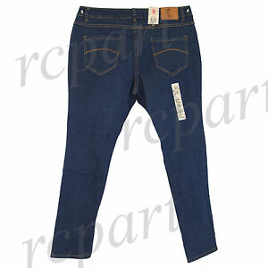 New Jeans Colony Women's Casual Skinny slim Jeans Mid Blue 14 16 18 20 22