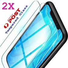 2x iPhone 8 12 XR XS Max Pro X 11 7 6 Plus 4 5 Tempered Glass Screen Protector