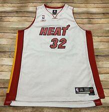 Reebok MIAMI HEAT Jersey SHAQUILLE ONEAL Vtg Home White Sewn NBA Basketball 2XL